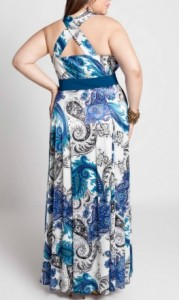 Plus Size Maxi Dress Back View
